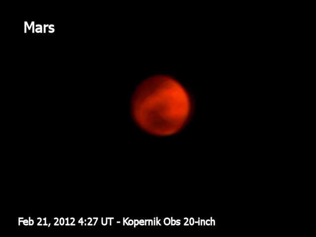 Pre-processed image of Mars